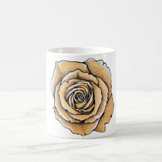 Vintage old paper rose coffee mug