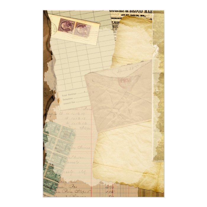 Vintage Old Papers Stationery