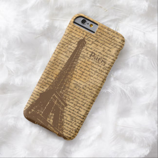 Vintage Old Paris Eiffel Tower Barely There iPhone 6 Case