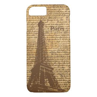 Vintage Old Paris Eiffel Tower iPhone 7 Case