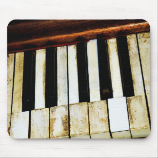 Vintage old piano keys mouse pad