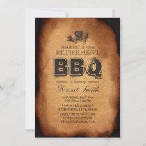 Vintage Old Pig Roast Retirement BBQ Party Invitation