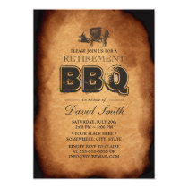 Vintage Old Pig Roast Retirement BBQ Party Invitation