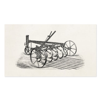 Vintage Old Plows Farm Equipment Agriculture Plow Double-Sided Standard Business Cards (Pack Of 100)