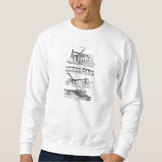 Vintage Old Plows Farm Equipment Agriculture Plow Sweatshirt
