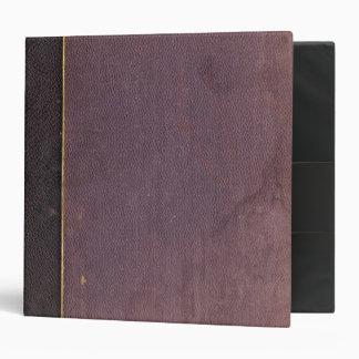 Vintage Old Purple Book Personalized 3 Ring Binder