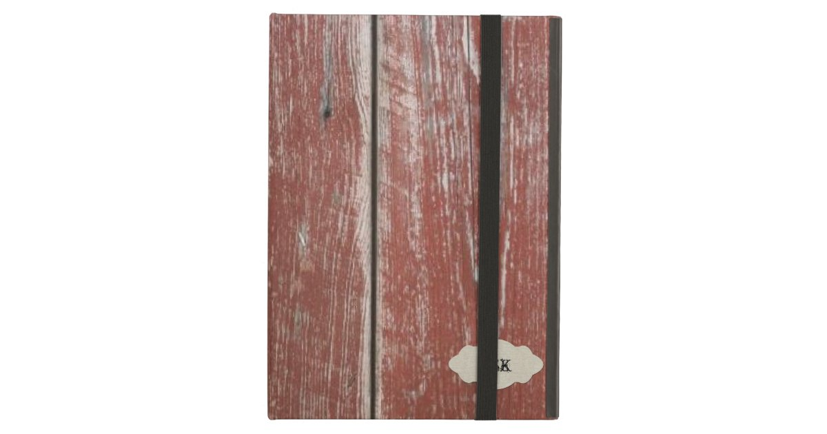 Red Barn Wood vintage old red barn wood look personalized case for ipad air | zazzle