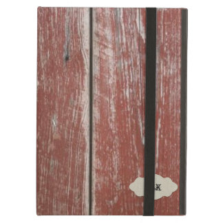 Vintage Old Red Barn Wood Look Personalized iPad Air Cover