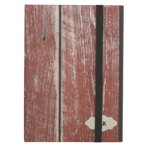 Vintage Old Red Barn Wood Look Personalized iPad Cover