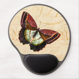 Vintage Old Red Brown Butterfly 1800s Illustration Gel Mouse Pad