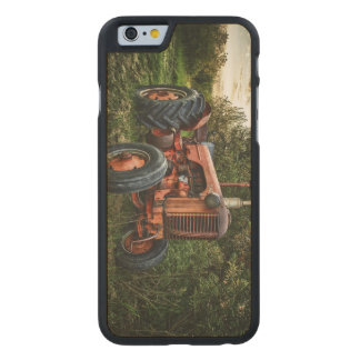 Vintage old red tractor carved maple iPhone 6 case