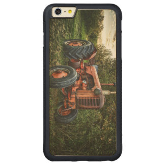 Vintage old red tractor carved maple iPhone 6 plus bumper case