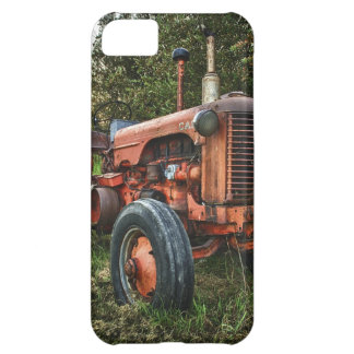 Vintage old red tractor iPhone 5C cover