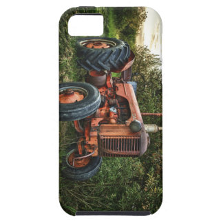 Vintage old red tractor iPhone SE/5/5s case
