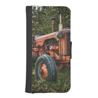 Vintage old red tractor iPhone SE/5/5s wallet