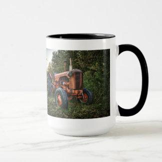 Vintage old red tractor mug