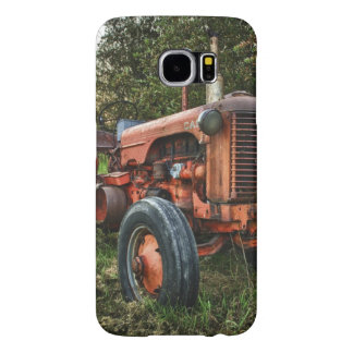 Vintage old red tractor samsung galaxy s6 case
