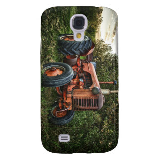 Vintage old red tractor samsung s4 case