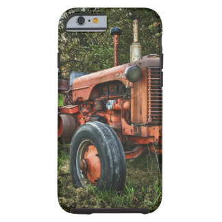 Vintage old red tractor tough iPhone 6 case