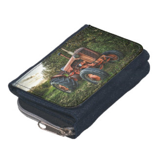 Vintage old red tractor wallet