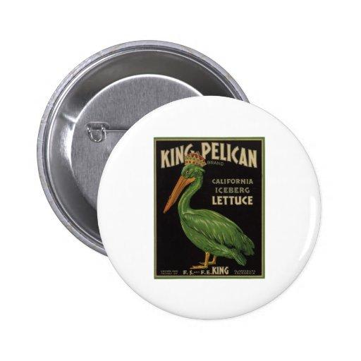 Vintage Old Retro Crate Product Goods Label Veggie Button