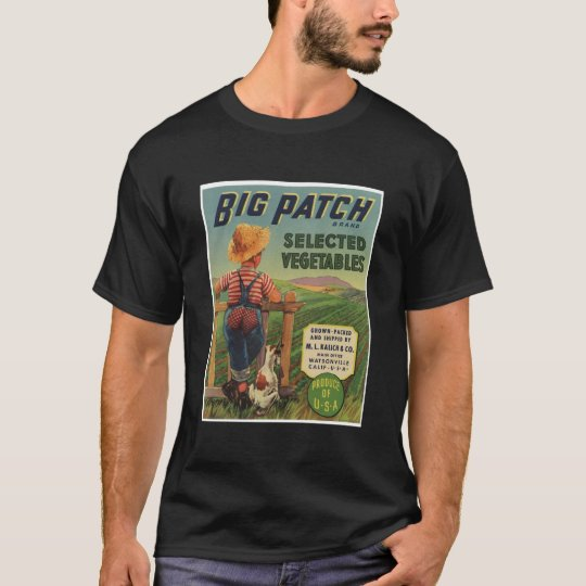 Vintage Old Retro Crate Product Goods Label Veggie T-Shirt