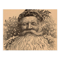 Vintage Old Saint Nick Postcard