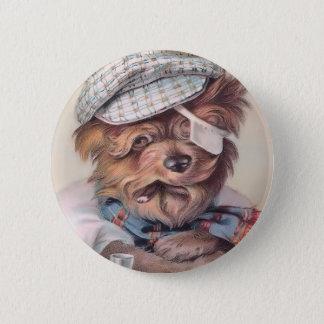 Vintage Old Salty Dog Round Button