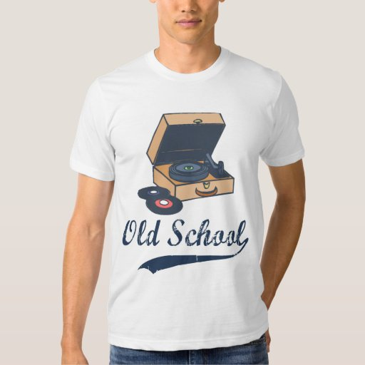 Vintage old school record player t shirts zazzle for Vintage record company t shirts