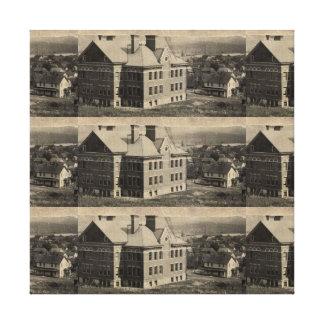 Vintage Old School Town Canvas Art Picture