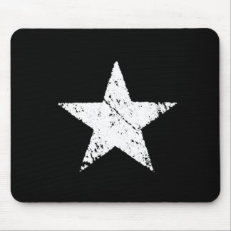 vintage old scratched paint star army symbol mouse pad