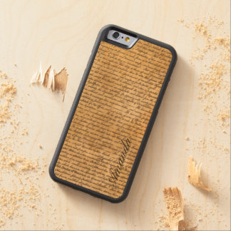 Vintage Old Scripts Custom Name iPhone 6 Case Carved® Maple iPhone 6 Bumper Case