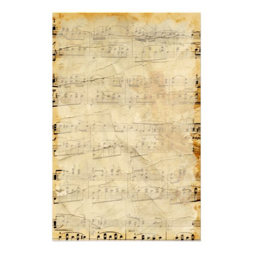 Vintage Old Sheet Music Parchment Stationery