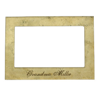 Vintage Old Stained Paper Magnetic Picture Frame