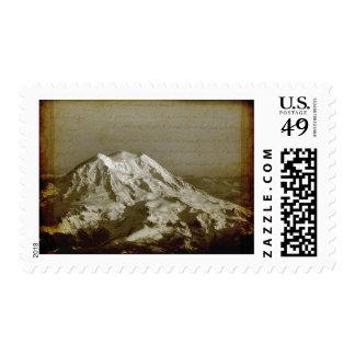 Vintage old style Mount Rainier Postage