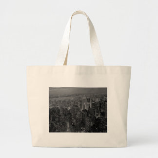 Vintage Old Style New York City Script Jumbo Tote Bag