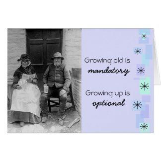 Vintage Old Timers Birthday Card