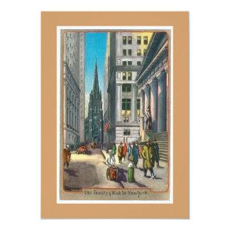 Vintage Old Trininty & Wall Street Card