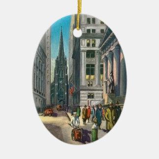 Vintage Old Trininty & Wall Street Ceramic Ornament