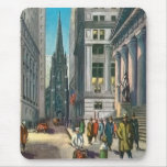 Vintage Old Trininty & Wall Street Mouse Pad