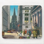 Vintage Old Trininty & Wall Street Mousepads