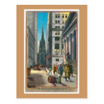 Vintage Old Trininty & Wall Street Post Cards