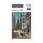 Vintage Old Trininty & Wall Street Postage Stamp