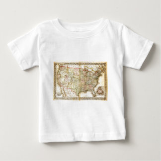 Vintage Old United States USA General Map Baby T-Shirt