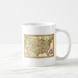 Vintage Old United States USA General Map Coffee Mug