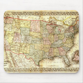 Vintage Old United States USA General Map Mouse Pad