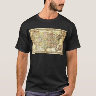 Vintage Old United States USA General Map T-Shirt