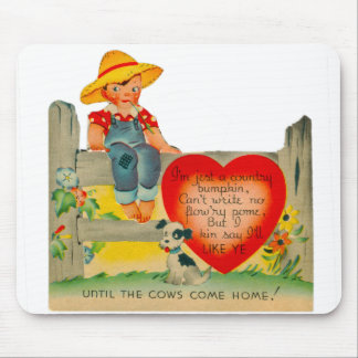 Vintage Old Valentine Country Bumpkin Mouse Pad