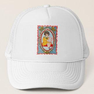 Vintage Old Valentine Little Girl Trucker Hat