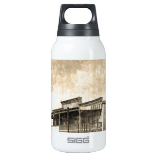 Vintage Old West Building Insulated Water Bottle